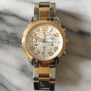 Michael Kors gold and silver watch 🌟